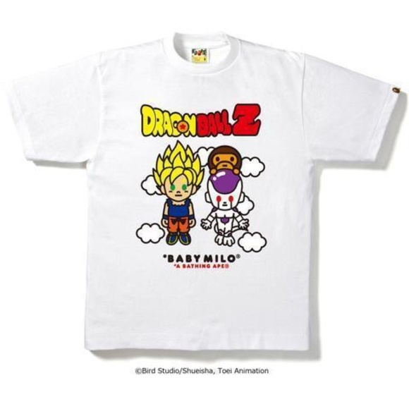 88d4adae Bape Shirts | Dbz Goku Frieza Meets Baby Milo Tee White | Poshmark